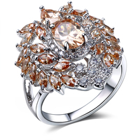 Lan Palace Boutique Bulgaria Jewelry AAA Cubic Zirconia Wedding Jewelry Gold Plated Natural Stone Ring Free
