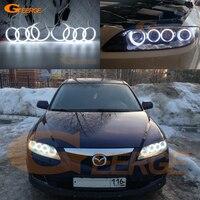 For Mazda 6 Mazda6 Mazdaspeed 6 MS6 2002 2008 Excellent 8pcs Angel Eyes Halo Ring Ultra bright illumination CCFL Angel Eyes kit