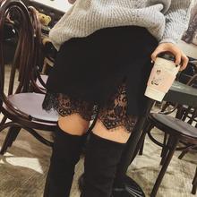 Беременной шить шерстяные живот беременные сплит черные юбки юбка большой кружева