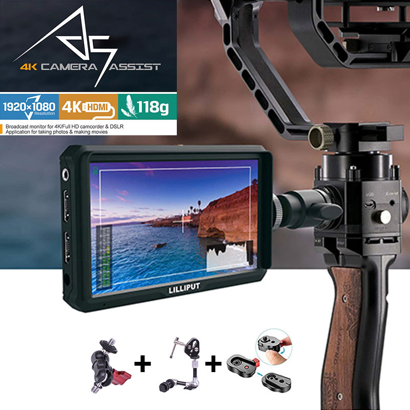 Lilliput A5 1920x1080 4K HDMI in out Broadcast 5 inch Camera Video Field Monitor for Canon