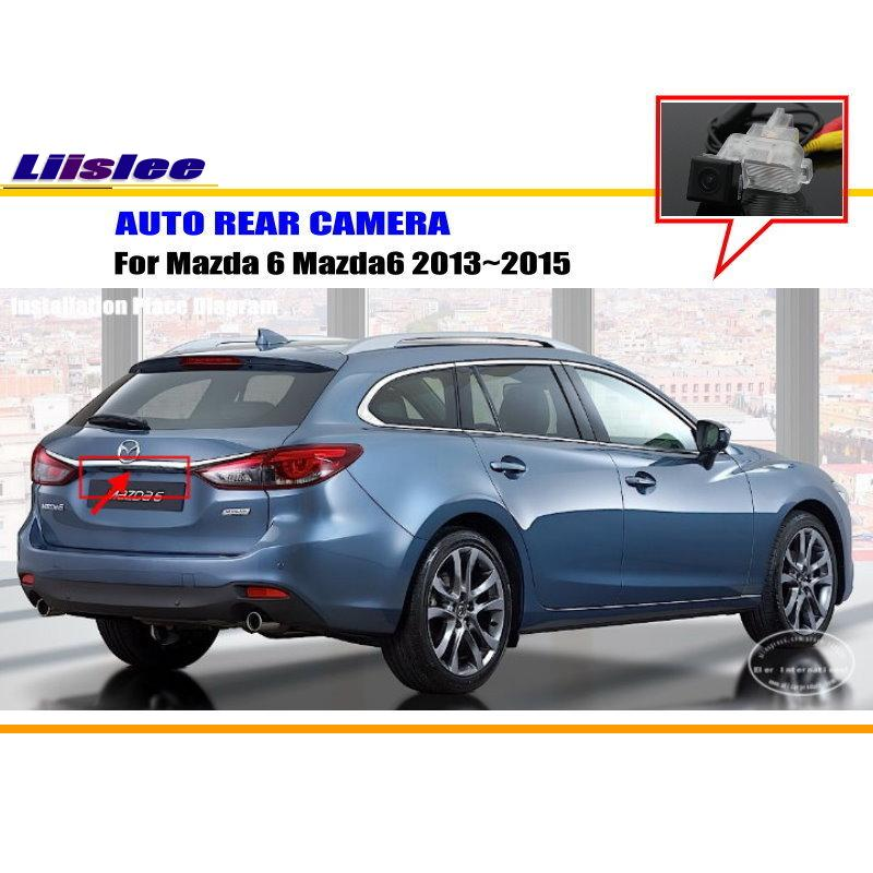 Liislee Vue Arrière de Voiture Caméra Pour Mazda 6 Mazda6 Berline 2013 ~ 2015/Caméra de recul/HD CCD RCA NTST PAL/Plaque D'immatriculation Lampe OEM
