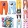 Envío libre 2017 0 M-12 M pantalones de Bebé de dibujos animados Infantiles, niña, niño recién nacido creppers Ropa Cuerpo Párr Bebe pantalones