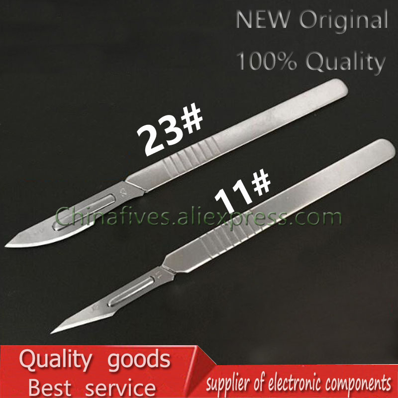 10 Pc 11#--23# Carbon Steel Surgical Scalpel Blades + 1pc 4# Handle Scalpel DIY Cutting Tool PCB Repair Animal Surgical Knife