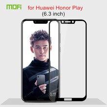 Huawei Honor Play стекло закаленное 6,3 дюймов полное покрытие защитная пленка закаленное стекло huawei Honor Play защитная пленка черный