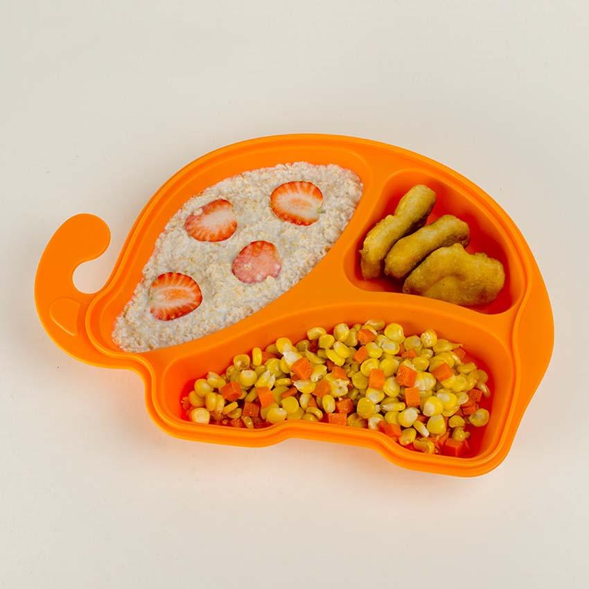 High Quality 6M+ Infant Baby Kids Children Safe Feeding Tableware Zoo Animal Training Feeding Dishes Plate Infant Pratos Platos