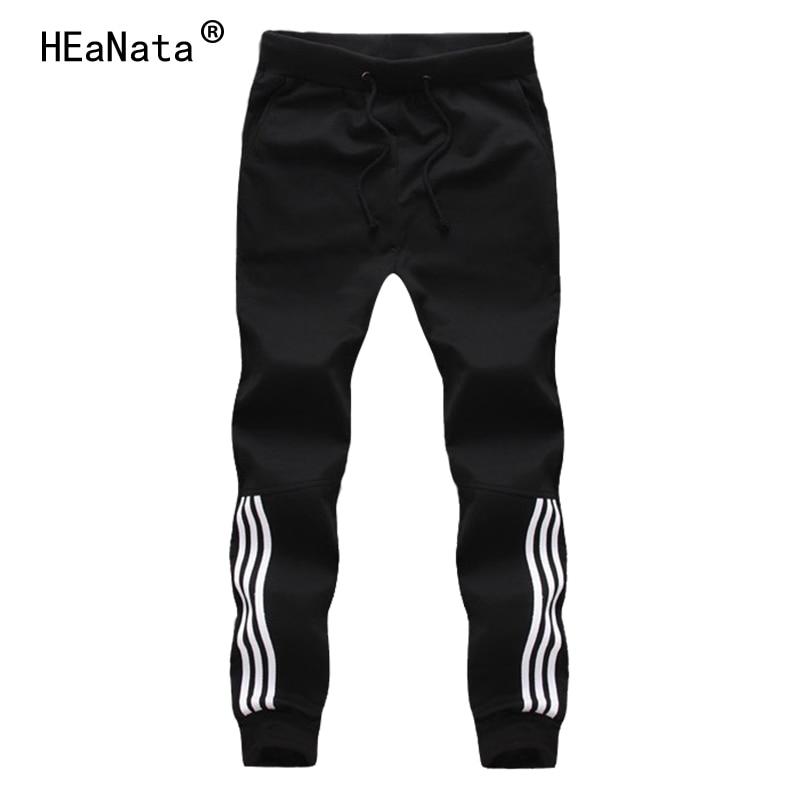 2019 Neue Casual Sportswear Hosen Männer Jogginghose Herren Baumwolle Jogger Gestreiften Hosen Turnhallen Kleidung Fit Junge Hose Schüler Angenehme SüßE