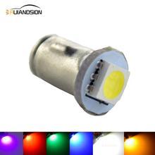 Бесплатная доставка, 100x12 В постоянного тока Ba7s LLB282 5050SMD 1 светодиодный предупреждающий выключатель приборной панели, зеленая ледяная лампа, белый, янтарный, красный, розовый