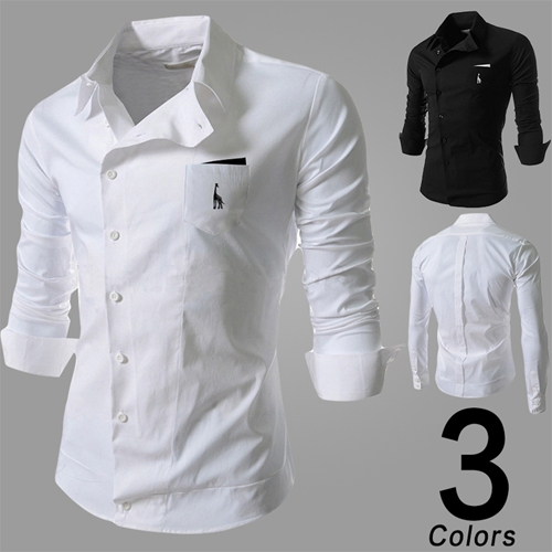 2014 Mens Slim fit stylish Dress Long Sleeve Shirts dress shirts high qualitycamisa masculina - Shanghai Yi Hong Trading Co., Ltd. store