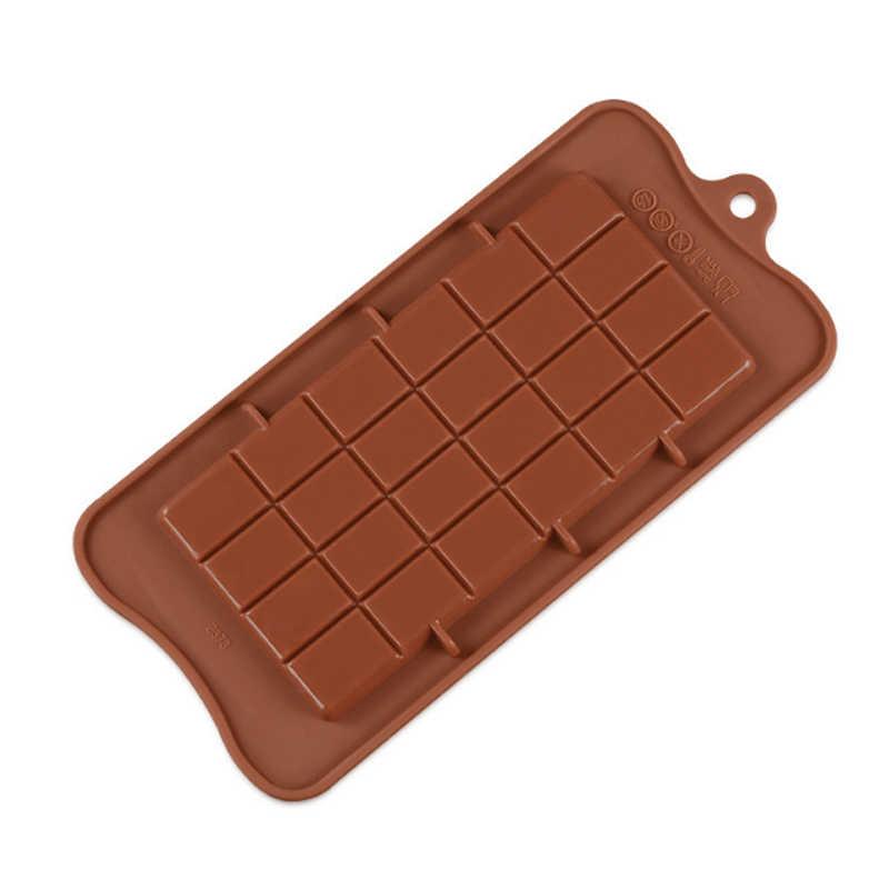 チョコレート金型耐熱皿ケーキ金型高品質の正方形環境にやさしいシリコーンシリコンモールド Diy 1PC 食品グレード 24 空洞
