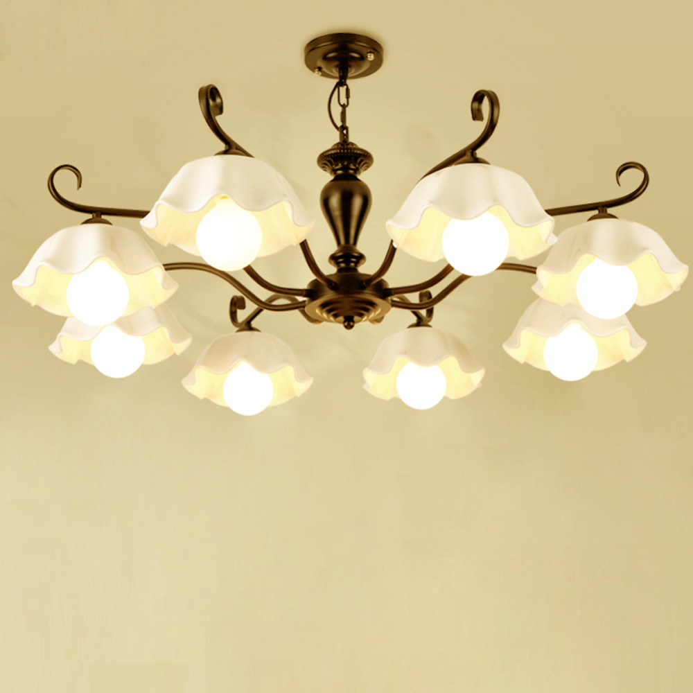 Led ceiling lamp AC110/220V available led ceiling lights for Home dining room living room Country Style iron art