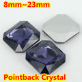 Tanzantie Square Shape Crystal Fancy Stone Point Back Glass Stone For DIY Jewelry Accessory.8mm 10mm 12mm 14mm 18mm 23mm
