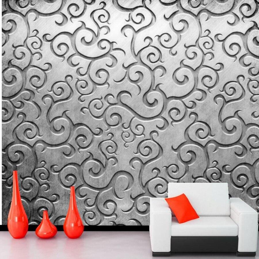 Benutzerdefinierte metall muster tapete, restaurant bar wohnzimmer ...