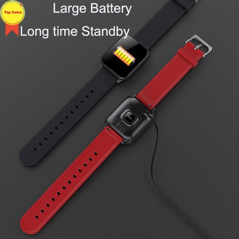 Montre-bracelet intelligente montres intelligentes moniteur de fréquence cardiaque numérique message push hommes Sport bande intelligente Bluetooth bande 4 IOS andorid - 4