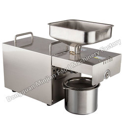 Household oil extraction machinery commercial stainless steel automatic electric cold pressing hot pressing small oil press T501