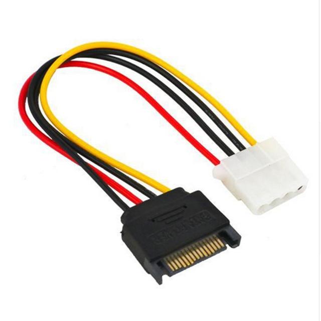 15 Pin SATA штекер для Molex IDE 4 штырьковый гнездовой адаптер удлинитель Кабель питания IDE для последовательной материнской платы ATA компьютер HDD жесткий диск