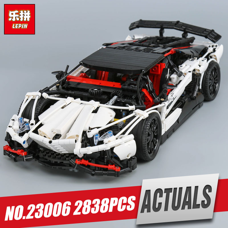 Lepin 23006 Genuine MOC Technic Series The Super Racing Car Set MOC-3918 Building Blocks Bricks Educational legoing Toys as gift lepin 21010 914pcs technic super racing car series the red truck car styling set educational building blocks bricks toys 75913