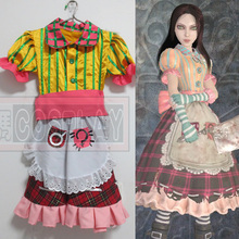 Alice Madness Returns Alice Cosplay Costume GOOD quality lady skirt
