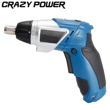 CRAZY POWER 3.6V Electric Battery Power Screwdriver Foldable Adjustable Cordless Screwdriver Drill Household DIY With LED