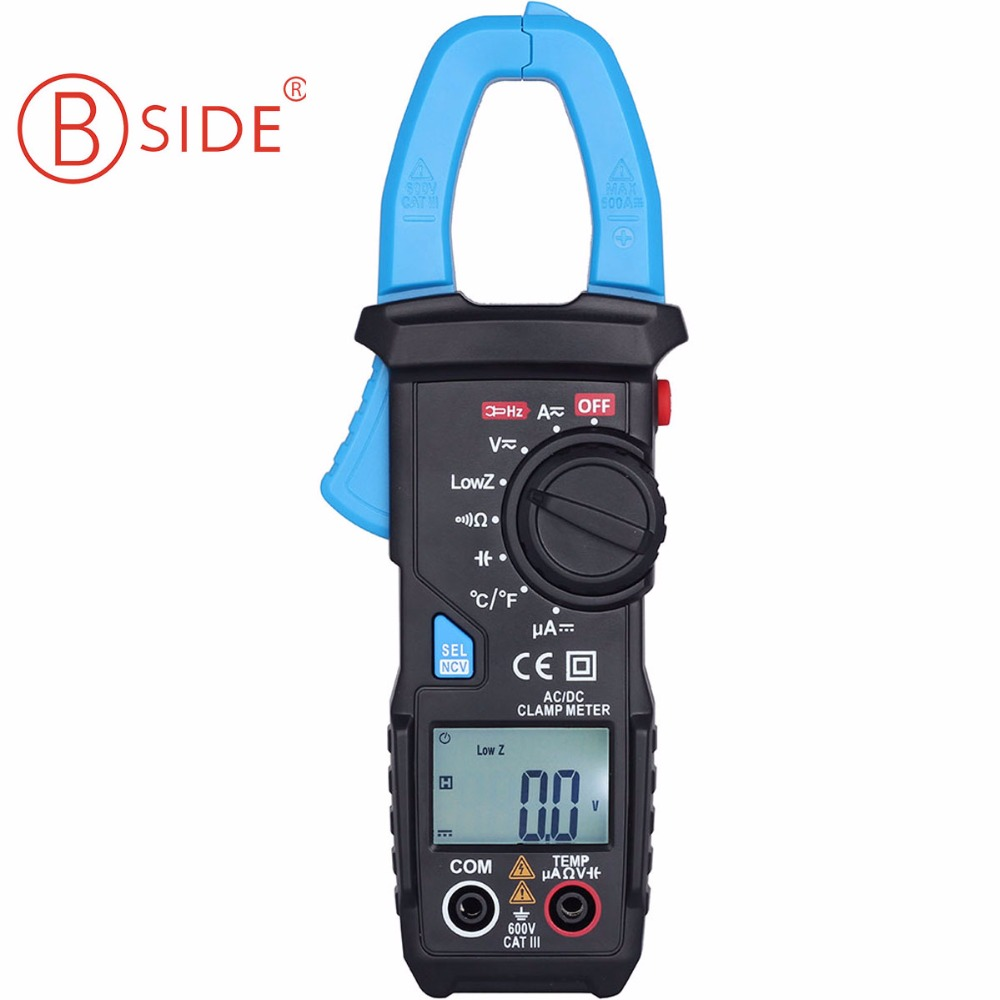 Smart Digital clamp meter 6000 counts AC/DC 600A current Resistance Capacitance BSIDE ACM22A Auto Range multimeter bside acm01 counts auto range 600a digital electrician clamp meter multimeter ac dc voltmeter ammeter resistance meter tester