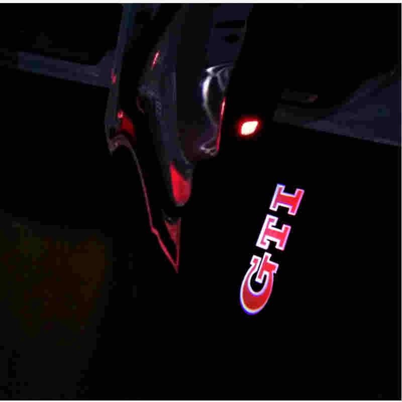 2x Car Styling LED Car Door Logo Warning light Pathway Light For Volkswagen VW Touareg Passat R line GTI B5 B5.5 Phaeton