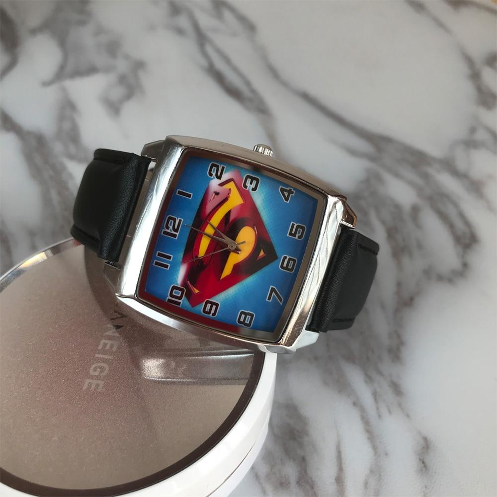 New Fashion 3D Cartoon Superman Batman Kids font b Watch b font Men s Quartz font