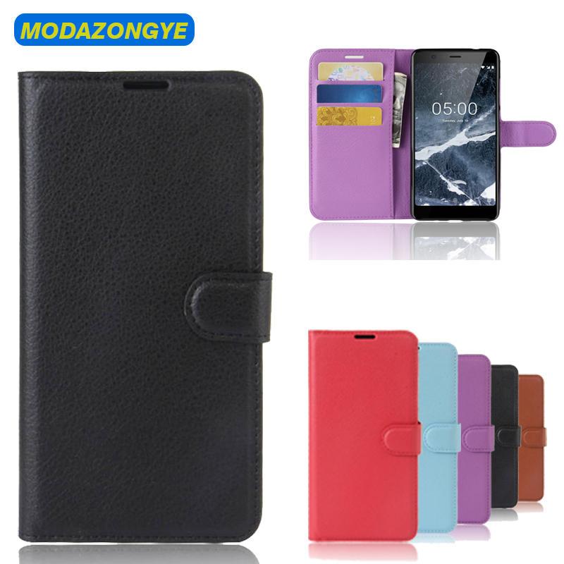 Nokia 5.1 Case Nokia 5.1 2018 Case PU Leather Phone Case For Nokia 5.1 TA-1061 TA-1075 A-1076 TA-1081 TA-1088 5 2018 Flip Cover