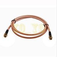 ALLISHOP Top Marca RP-SMA plug to RP-SMA plug para RG400 Pigtail cabo coaxial RF Adaptador de montagem 10 m
