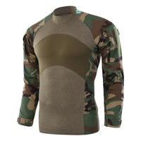 Men's Flag Camouflage Tactical Training T shirt Army Combat Male Long Sleeve Military Outdoor Camping Hiking Hunting Clothes