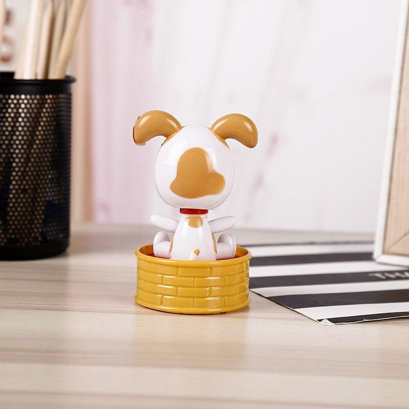Волшебная игрушка на солнечных батареях для танцев собак, качающаяся игрушка, подарок, украшение автомобиля, новинка, счастливые танцы, солнечные игрушки для детей - Цвет: E