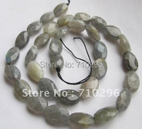 5 strings/lot Natural Labradorite 8*12mm Faceted Oval Semi stone Beads 40 cm/string