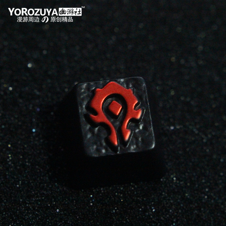 1pc Zinc-plated Aluminum Alloy Key Cap For World Of Warcraft Wow Mechanical Keyboard Stereoscopic Relief Keycap R4 Height