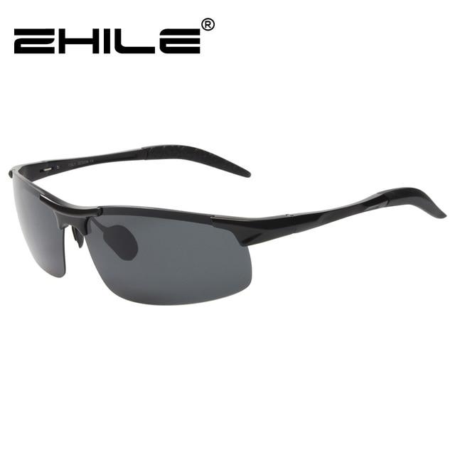 ec54b9d20a ZHILE Wrap Rectangular Metal Frame Polarized Sunglasses with Case for Men  Driving Eyewear