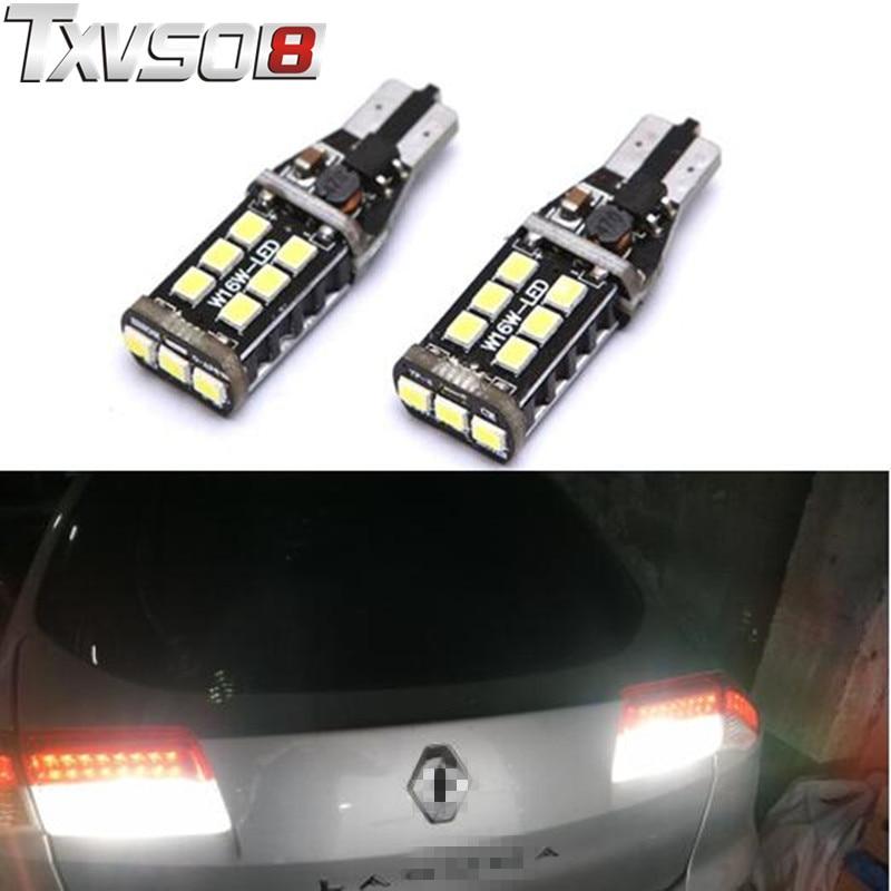 2X Canbus T15 W16W 2835 SMD 15 LED White Car Backup Reverse Light Bulb for Kia Rio Sportage 2014 K2 K3 K4 K5 Sorento Cerato Soul in Signal Lamp from Automobiles Motorcycles