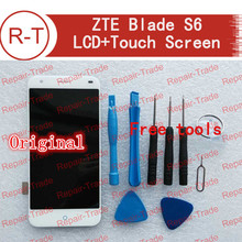 Zte blade s6 pantalla lcd pantalla lcd + touch de alta calidad pantalla 1280×720 hd de 5.0 pulgadas de reemplazo para zte blade s6 móvil blanco