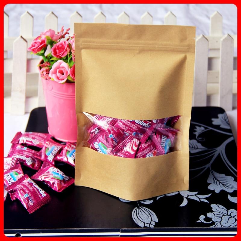 200pcs/lot 9cm*14cm+4cm*140mic High Quality Packaging Bag Food Laminating Pouches Retail Plastic Bag