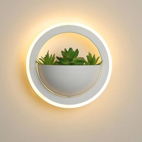 led lampada de parede 10 w simulado plantas verdes led luzes de parede arandela interior