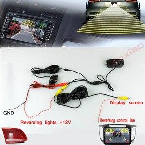 Image 3 - Araba dikiz kamera gece görüş LED ışık yüksek çözünürlüklü dikiz araç kamerası ekle geri Radar sensör dedektörü kamera