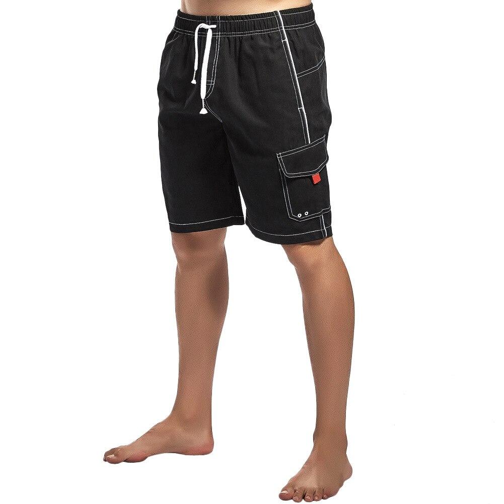 Brand Board Shorts Men Beach Swimwear Swim Short Trunk solid Bermudas Man Boardshorts Male Sport Sweatpants Inside Mesh Liner
