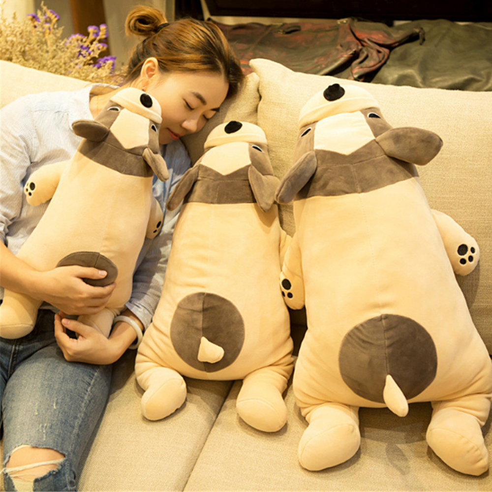 Fancytrader Cute Shar Pei Dog Plush Doll Big 70cm Soft Stuffed Animals Dog Toys Decoration Gifts for Children fancytrader 120cm super lovely jumbo plush shar pei dog toy large dog doll sleeping pillow gift for child free shipping ft50048