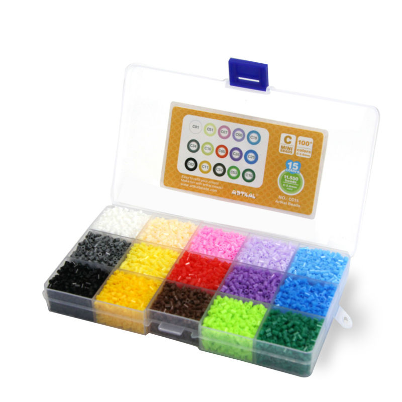 compare prices on fuse box gifts online shopping buy low price 15 color box set artkal fuse beads diy puzzle kits festival gift for children perler mini