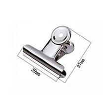 Clip en métal argenté rond 39mm, clip en papier pour bouledogue, fournitures de bureau et papeterie en acier inoxydable, livraison gratuite (48 pièces/lot)
