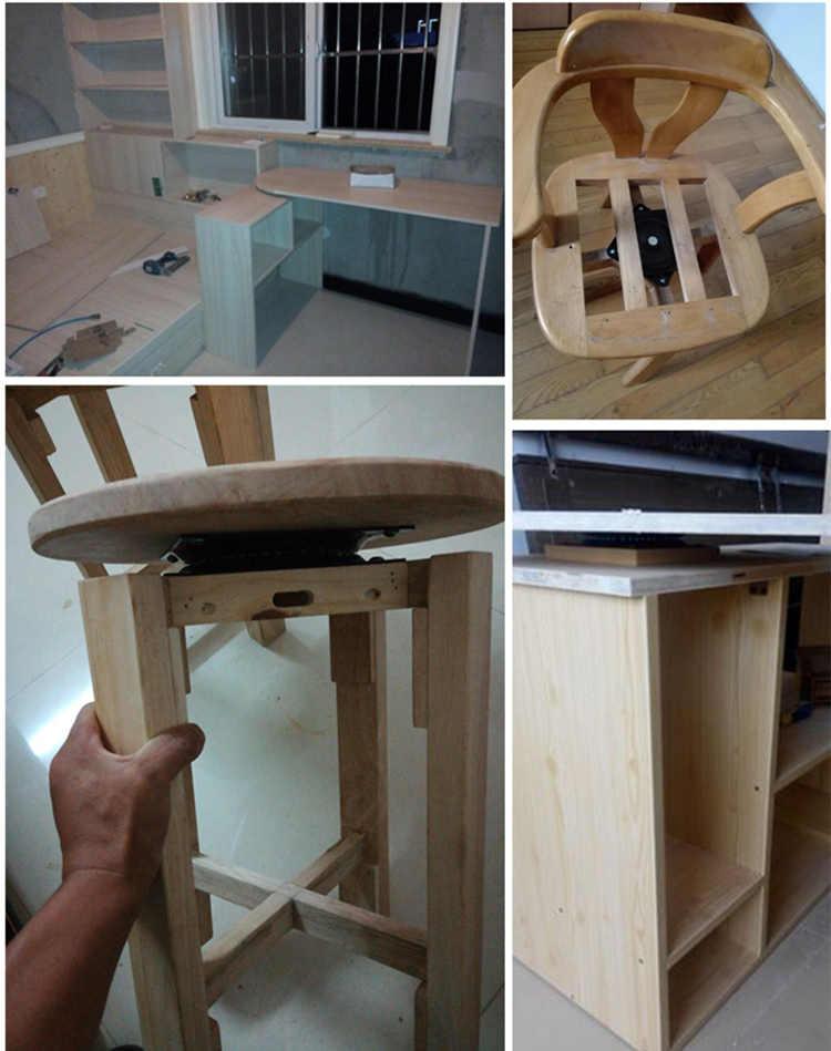 Подшипник стул вращающийся стол стул мебель для бара модифицированный Вращающийся поворотный стол компьютерная настольная база ленивый Сюзан