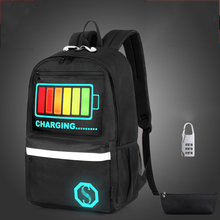 Senkey style new unisex schoolbag For teenage teenagers luminous bookbag backpack to school bag Student book bag for boys girls