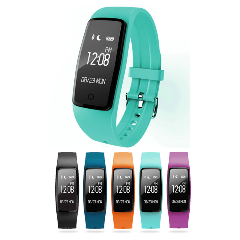 S1 Wristband Bracelet Bluetooth Smart Band Heart Rate Monitor Fitness Tracker IP67 Waterproof Smartband for Android