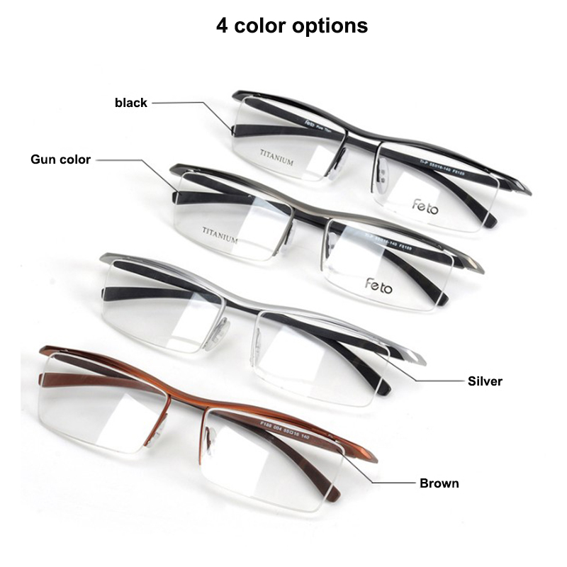 Eyewear Frames Brand titanium glasses frame women men 2019 Retro computer  myopia optical glasses oculos de grau lunette de vue