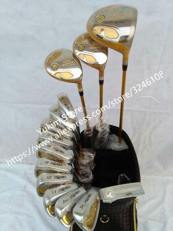 Golf Clubs Complete Set Honma Bere S-05 4 star golf club sets Driver+Fairway+Golf iron+putter (14piece) NO Golf bag womens golf clubs maruman rz complete clubs set driver fairway wood irons graphite golf shaft and cover no ball packs