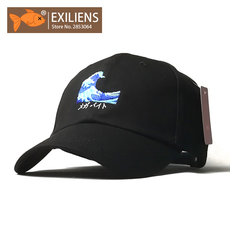 [EXILIENS] Baseball Cap New Fashion Genuine Brand Waves Top Cotton Snapback Caps Strapback Hip-hop Hats For Men Women Fitted Hat brand nuzada snapback summer baseball caps for men women fashion personality polyester cotton printing pattern cap hip hop hats