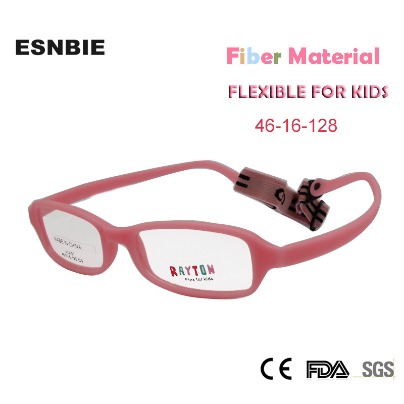 Apparel Accessories Kids Glasses Frame With Cord New Fiber Screwless Optical Eyewear Unbreakable Eyeglasses Boys Girls 10pcs