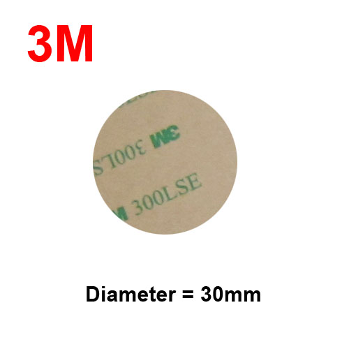 Dia=30mm 3M 300LSE 9495LE Double Sided Adhesive Round Sticker, Clear Sticky Circle, Super Thin, 0.17mm Thick, 100pcs/lot