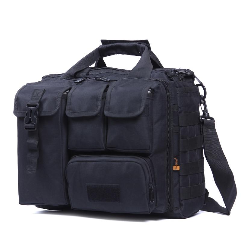 yin qi shi men's Shoulder Bags Molle Outdoor Sport Rucksack 15 Laptop Camera Mochila Military Tactical Computer Bag цена